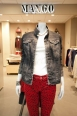 Heads will turn wearing this acid wash denim jacket and animal print skinny jeans available in MANGO